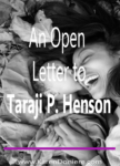 An Open Letter to Taraji P. Henson
