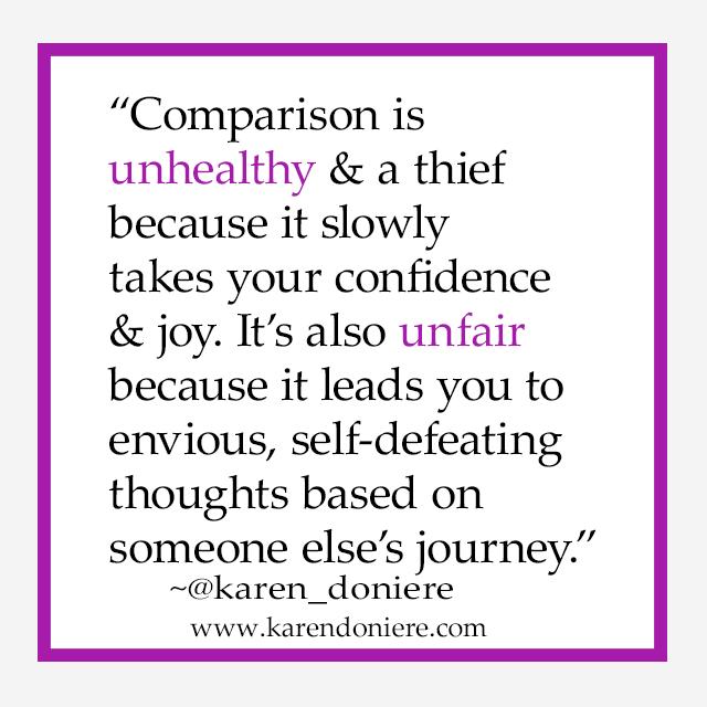 Comparison, thief, steals joy, unhealthy comparisons, unfair comparisons