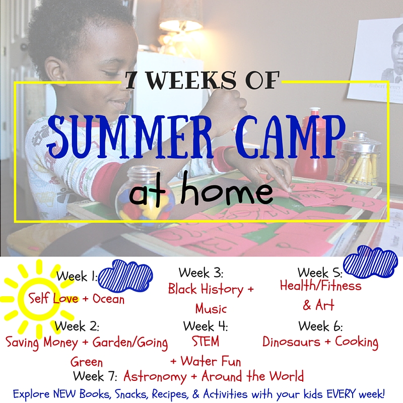 Summer Camp At Home: summer arts and crafts, learning activities, summer games and fun, dinosaur learning theme